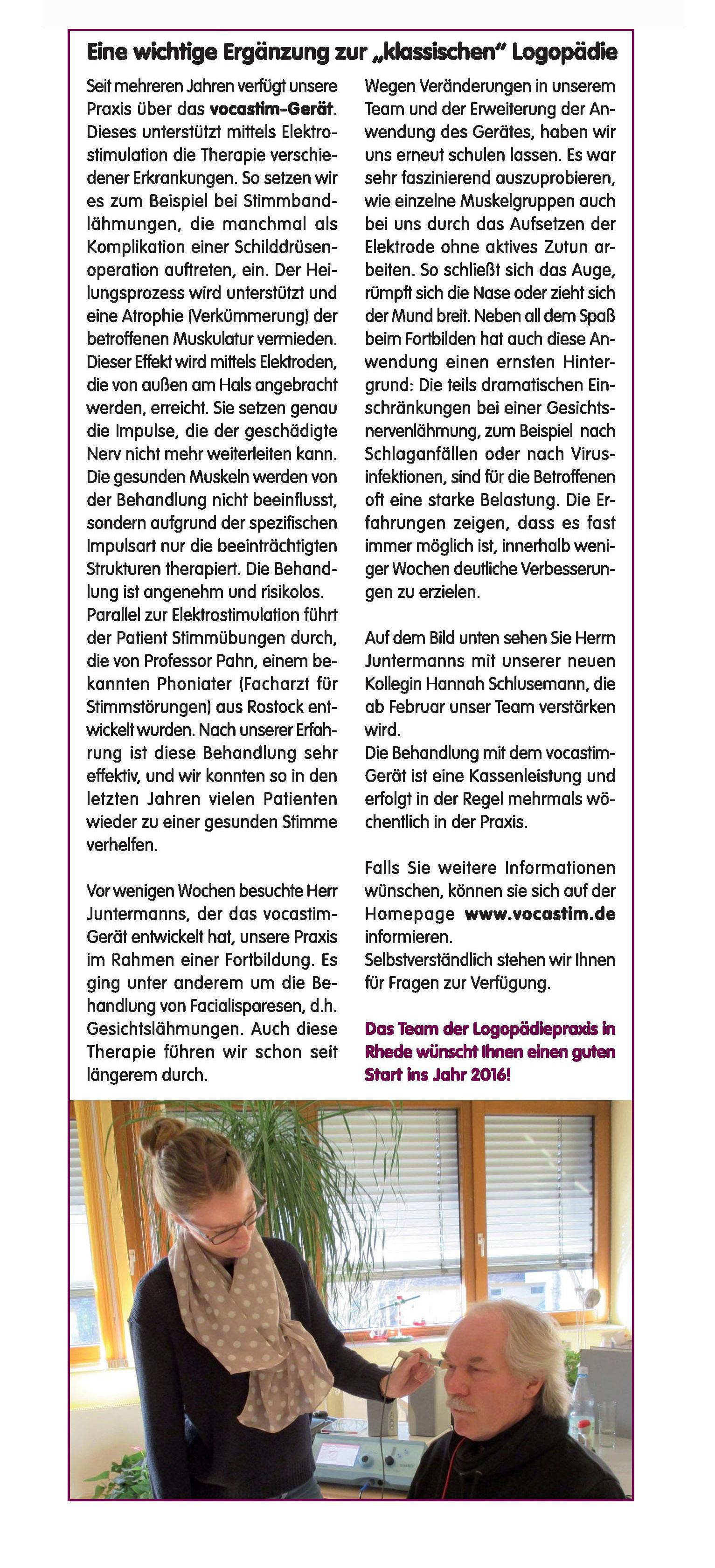 Bericht Frau Wolsing